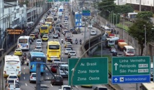 Traffic in Fortaleza during World Cup